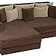 Угловой диван Мэдисон - Вельвет коричневый фото