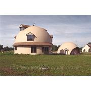 Монолинтный дом-сфера фото