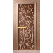 "Дверь DoorWood ""Бамбук и бабочки"" бронза 1,9 х 0,7 м. коробка (ольха. липа. береза) фото"