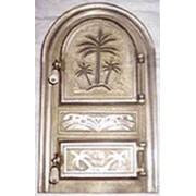 Дверцы для печей и каминов чугунные со стеклом фото