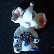 Сувенир Слон с розовыми ушами 4211 7х9см фото