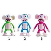 IMC Toys Обезьянка Fufris интерактивная, смеётся и подпрыгивает, звуковые эффекты, 3 цвета (94161) фото