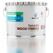 Антисептик Колорит (Facade Wood Finish) полупрозрачный тонируемый, для деревянных поверхностей (0,9 л) фото