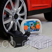 Электромобиль Nissan GTR, с резиновыми колёсами и кожаным креслом фото