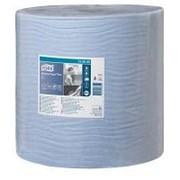 Бумага протирочная Tork Плюс в рулоне голубая, 130050-06 фото