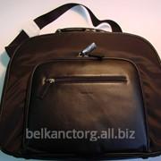 """Портфель """"Бейсик"""" женский,черный,с кожаными вставками,Tavecchi. фото"""