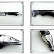 Нож Щука художественная версия охотничьего ножа коллекционного типа. фото