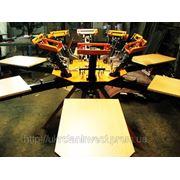 Станок для шелкографии печатная карусель на 6 столов и 6 цветов лучшее предложение фото