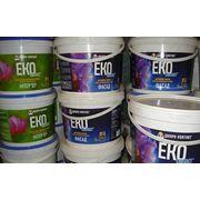 Краски фасадные акриловые EKO CONTACT 14 кг. белая матовая фото