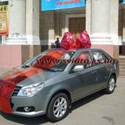 Оформление автомобилей (лента,бант,шары) фото