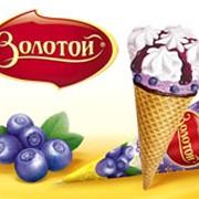 Мороженое плодово-ягодное Золотой йогурт-лесная черника фото