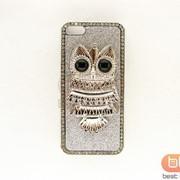 Накладка iPhone 5S (СОВА металл) серебро 73021 фото