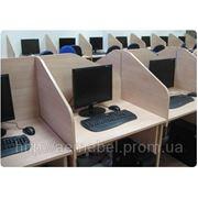 Офисные столы с перегородками, перегородки для офиса фото