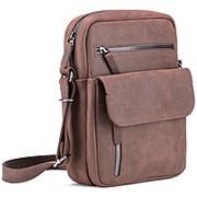 """Кожаная сумка """"Эквадор"""" (коричневый крейзи) фото"""