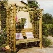 Пергола садовая деревянная фото