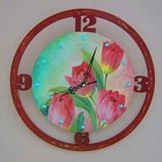 Часы тюльпаны фото