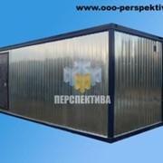 Блок контейнер 6 х 2,45 без окон, с тамбуром и металлической дверью фото