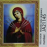 JA21145 Семистрельная Алмазная мозаика 21*25 богоматерь фото