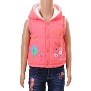 Жилетка для девочек на тонком синтепоне, розового цвет (артикул 4 дев 7) фото