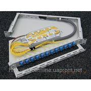 Оптичний крос на 12 ОВ, FC ODF Line-1U-FC 12TE фото