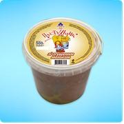 Мороженое в ведерке Пустунчик со сгущенным молоком фото