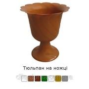 Вазон для цветов на ножке Тюльпан, диаметр 32 см 110414 фото