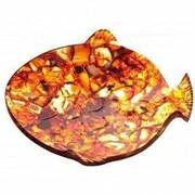 """Янтарная тарелка из янтаря """"Рыбка"""" HDfish фото"""