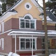Покраска фасадов частных домов фото
