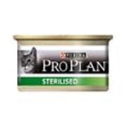 Корм Pro Plan Sterilised консервы для стерилизованных котов и кошек фото