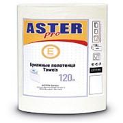 Полотенца бумажные Aster Mini , рулонные, 1-слойные, белые, 12рул/уп 231145 фото