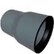 Муфта переходная с чугуна на пластик 125/110 РР серый фото