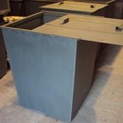 Бак для мусора с крышкой 0,7 м.куб., 2мм фото