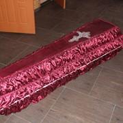 Гроб обитый тканью фото