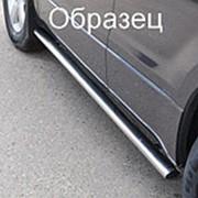 Пороги Mazda CX-7 2006-2009 (труба овал 75х42 мм) фото