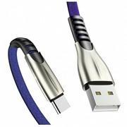 USB-кабель для зарядки 2.4А с Type C-разъемом, 1 м, синий фото