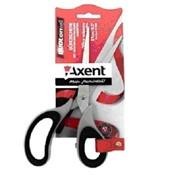 Ножницы канцелярские 21 см DuotonSoft, серо-чёрные фото
