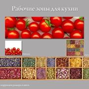 Стеклянный фартук для кухонной рабочей зоны фото