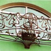 Ковані балконні перила, перила для єкстрер'єрів фото