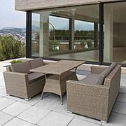 Комплект плетеной мебели T198B/S52B-W56 Light brown фото