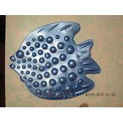 Рыбка ОРТО Камбала синяя. Мини-коврики в ванную фото