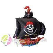 Воздушный шар Пиратский корабль (черный) фото