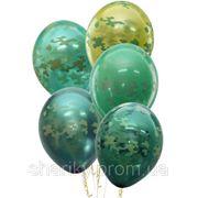Камуфляжные воздушные шары с гелием. фото