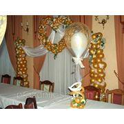 Украшение залов воздушными шарами фото