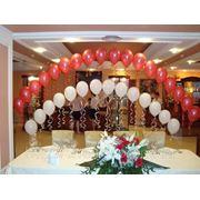 Оформление свадебного зала.Гелиевая цепочка на свадьбу. фото