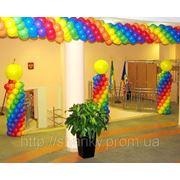 Выпускной. Оформление воздушными шарами. фото