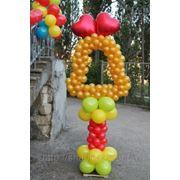 """Стойка """"Колокольчик"""" из воздушных шаров (2м) фото"""