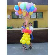 Колокольчик из воздушных шаров для запуска в небо. фото