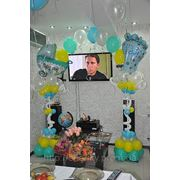 Праздничная встреча из роддома с воздушными шарами. фото