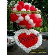 Яркое и красочное оформление и украшение воздушными шарами фото