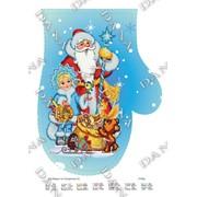 Новогодняя рукавичка Дед Мороз с снегуркой фото